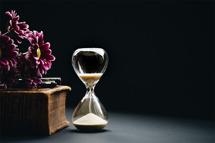 Sablier représentant la durée du divorce