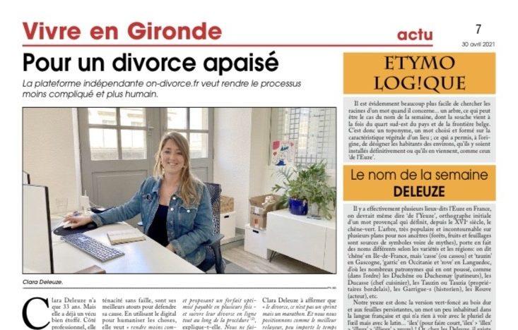 on divorce article de presse courrier de gironde
